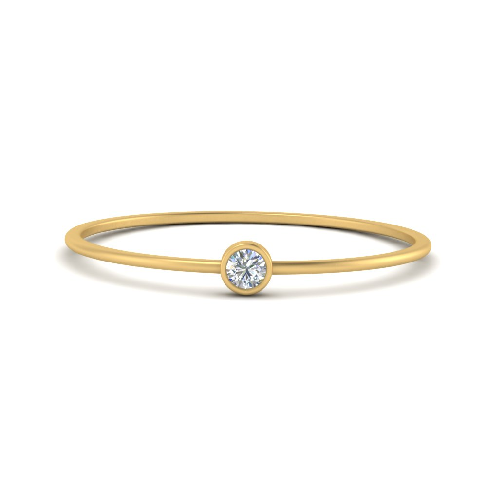 delicate round diamond yellow gold anniversary band for her FD9400ROR NL YG