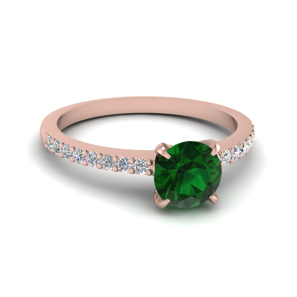 gold emeralddiamond three stone white and emerald ring diamond