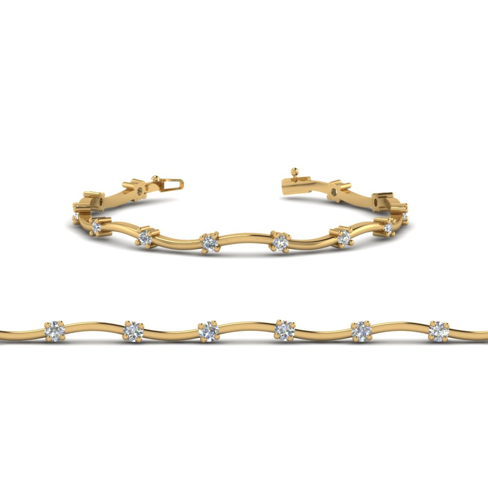 Yellow Gold Inexpensive Diamond Bracelet
