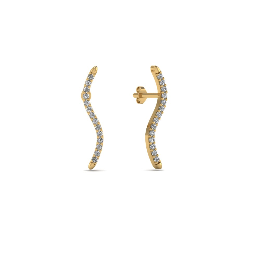 Delicate Wave Diamond Earring
