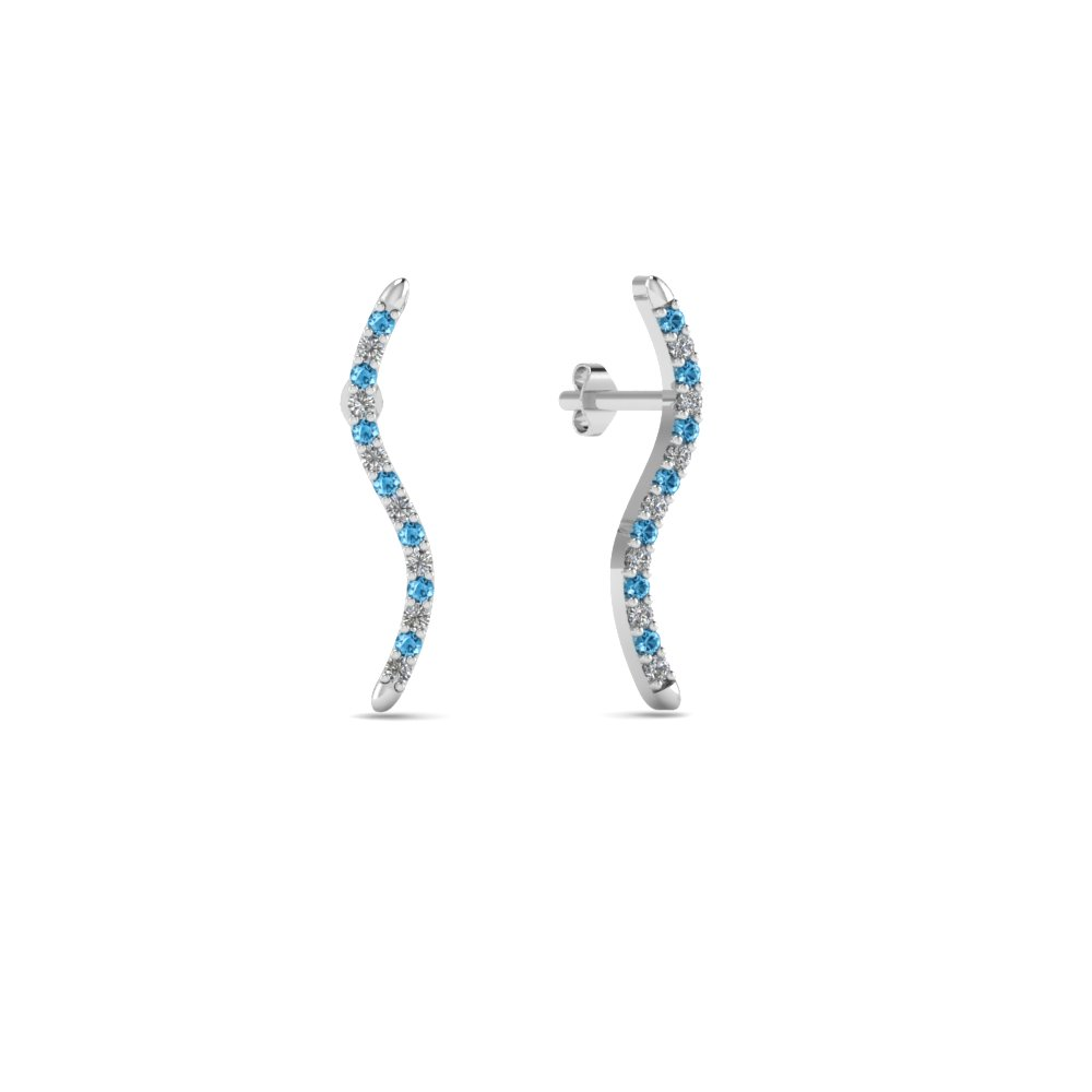 Blue Topaz Earrings For Women