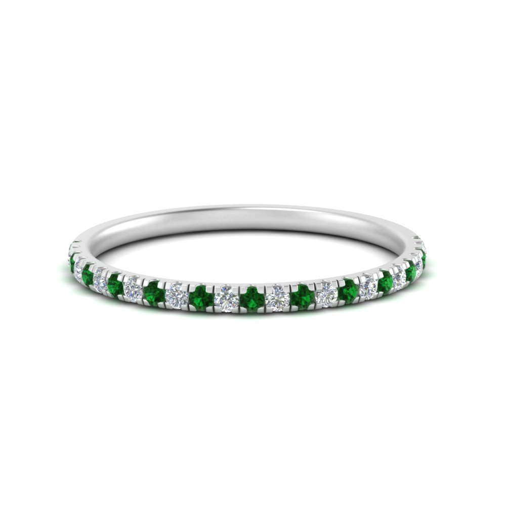 delicate-womens-custom-diamond-wedding-band-with-emerald-in-FD8148BGEMGR-NL-WG