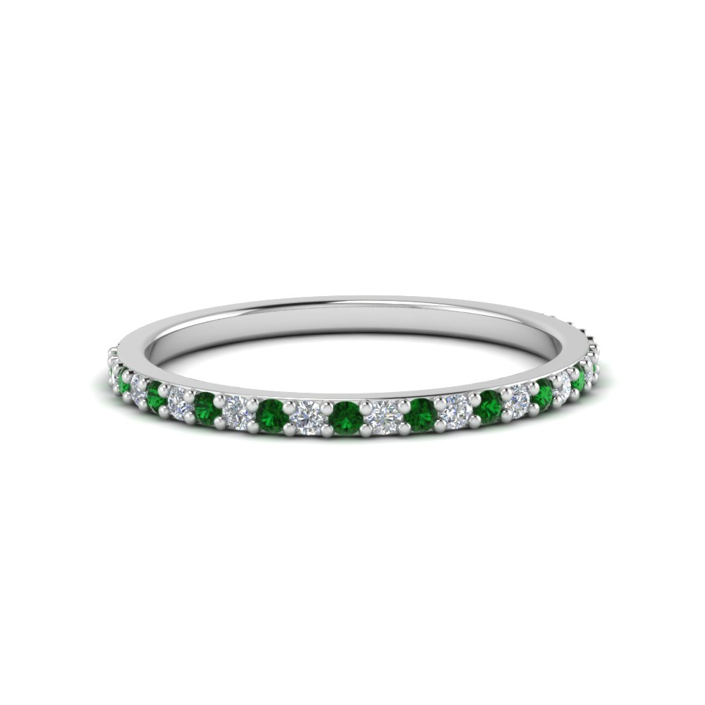 Delicate Emerald Womens Band