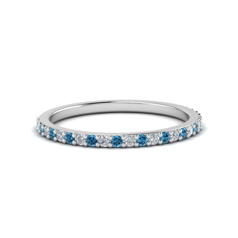 Delicate Womens Blue Topaz Band