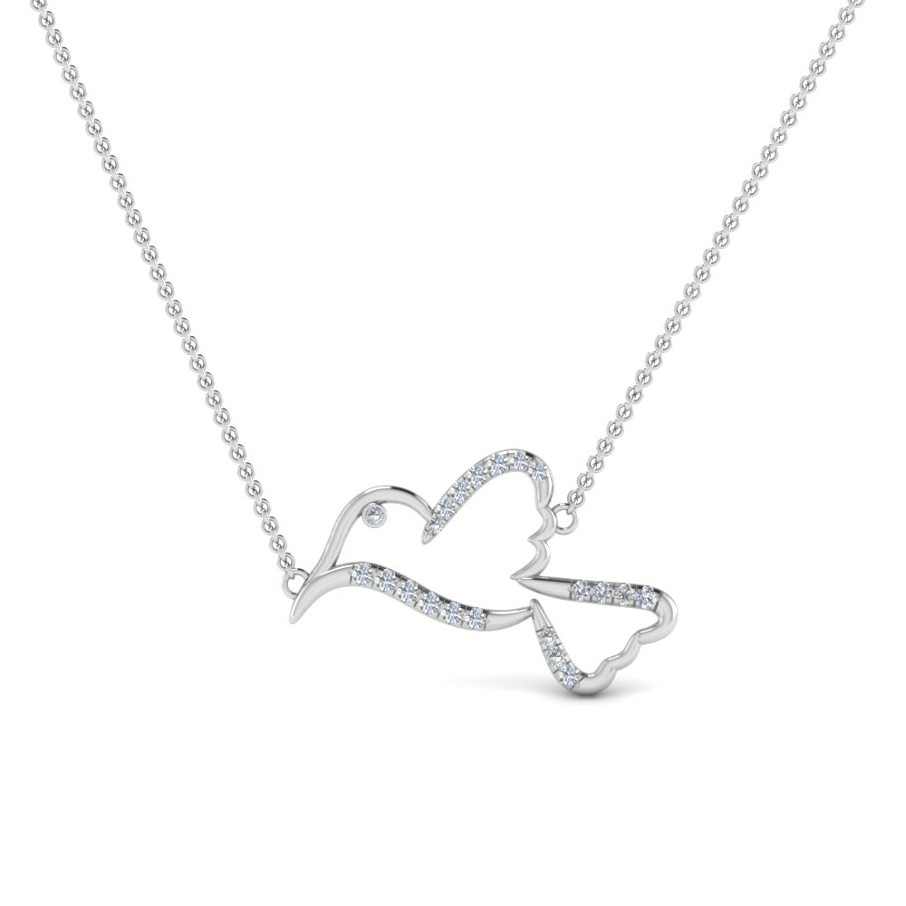 Diamond Bird Pendant