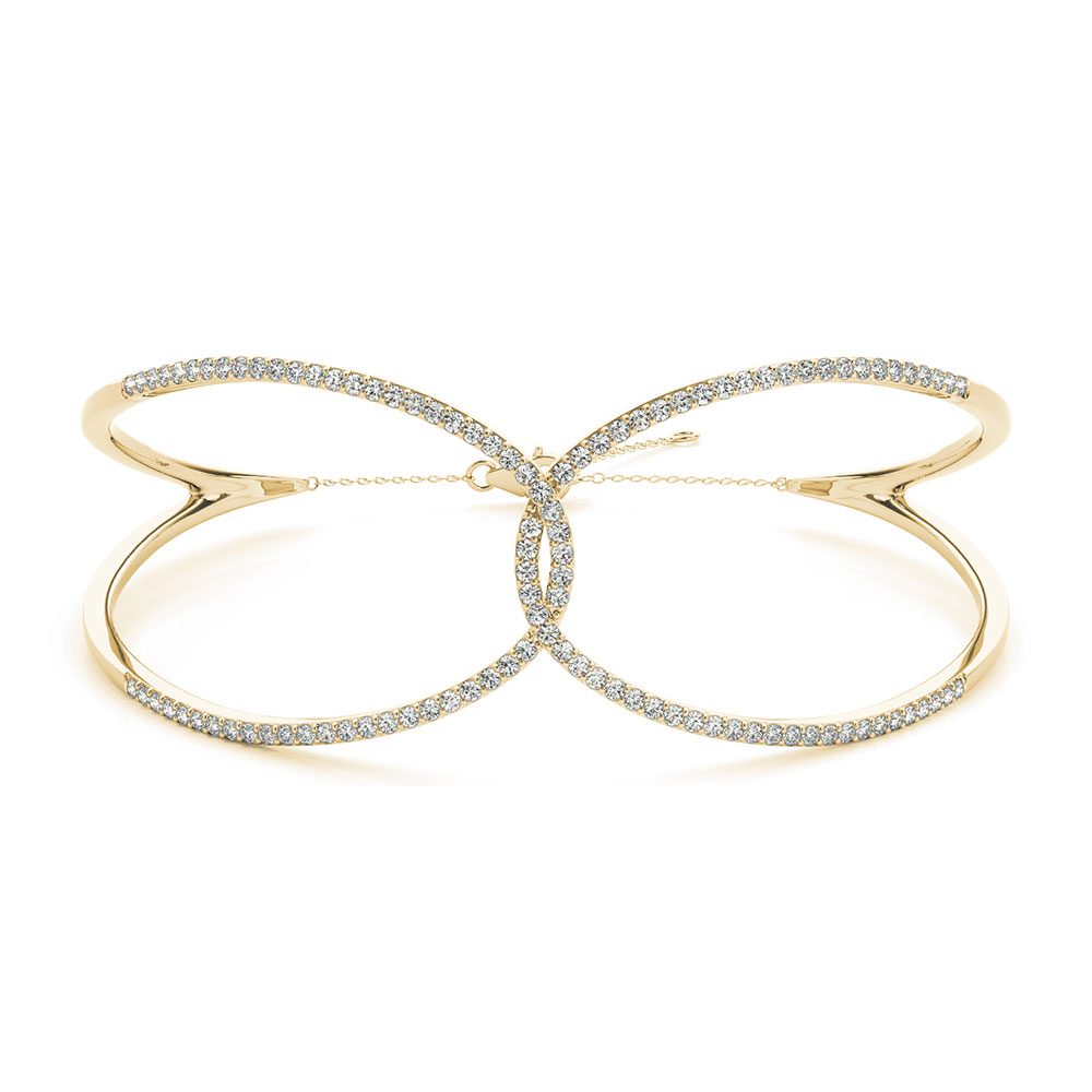 Diamond Butterfly Design Bracelet