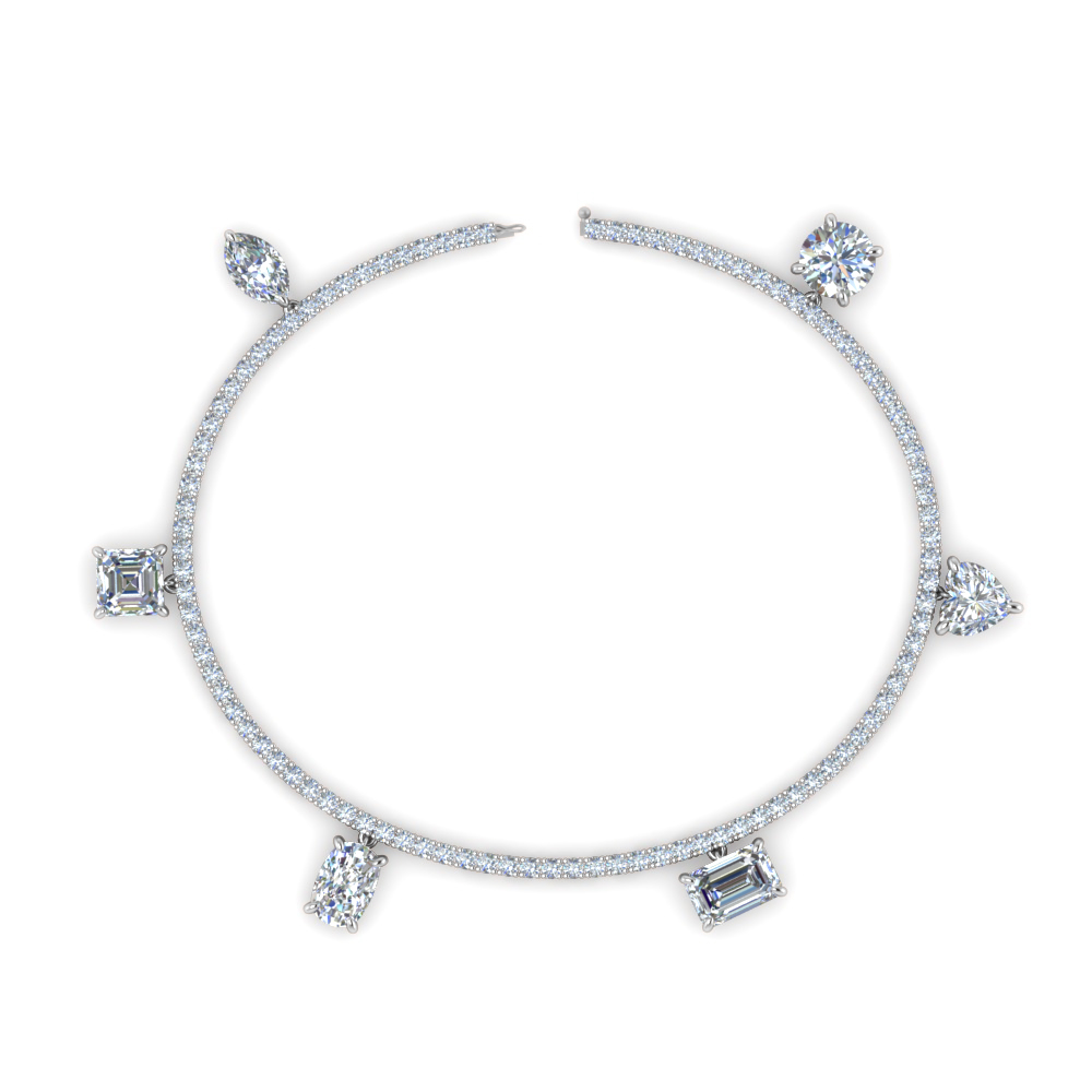 Diamond Charms Tennis Bracelet