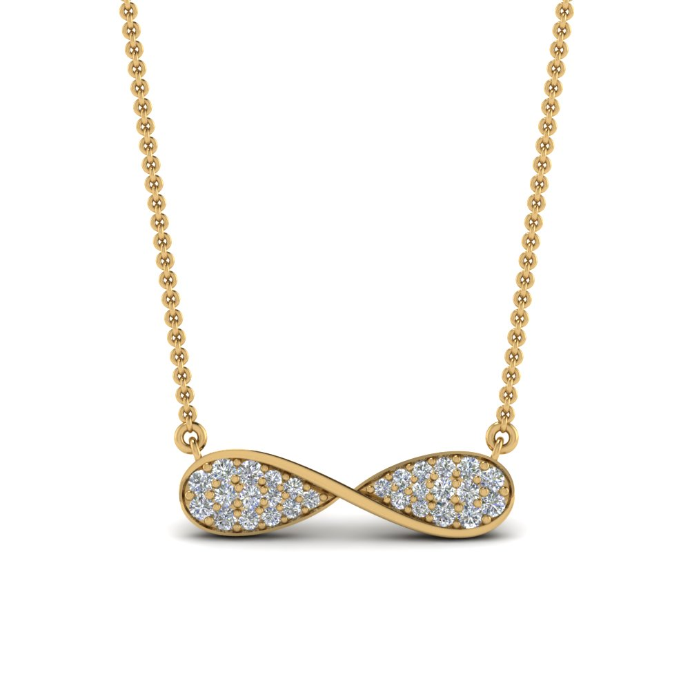 infinity pave diamond necklace