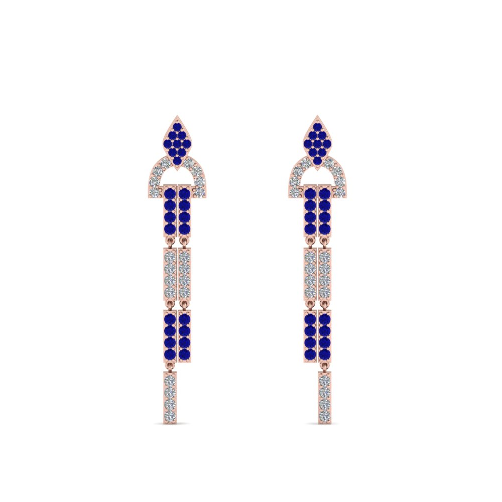 Blue Sapphire Dangle Earring