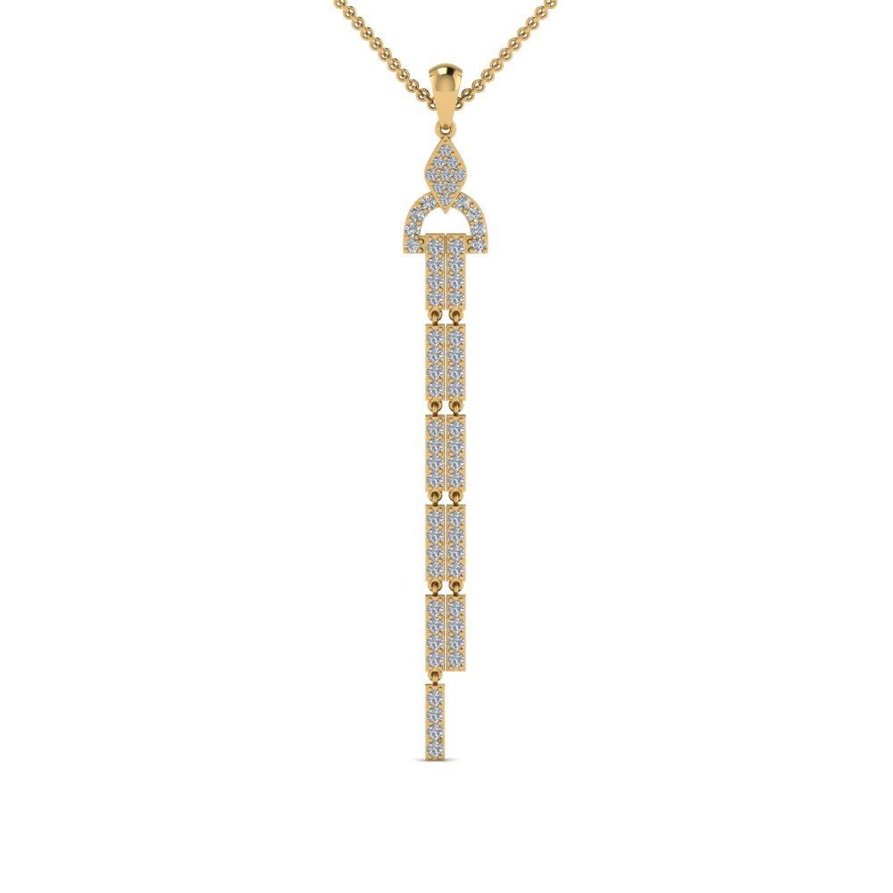 Dangle Diamond Drop Necklace