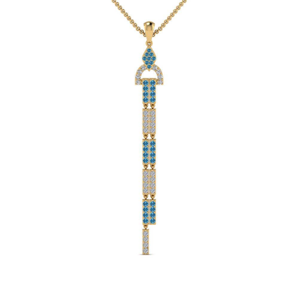 Topaz With Dangle Drop Necklace