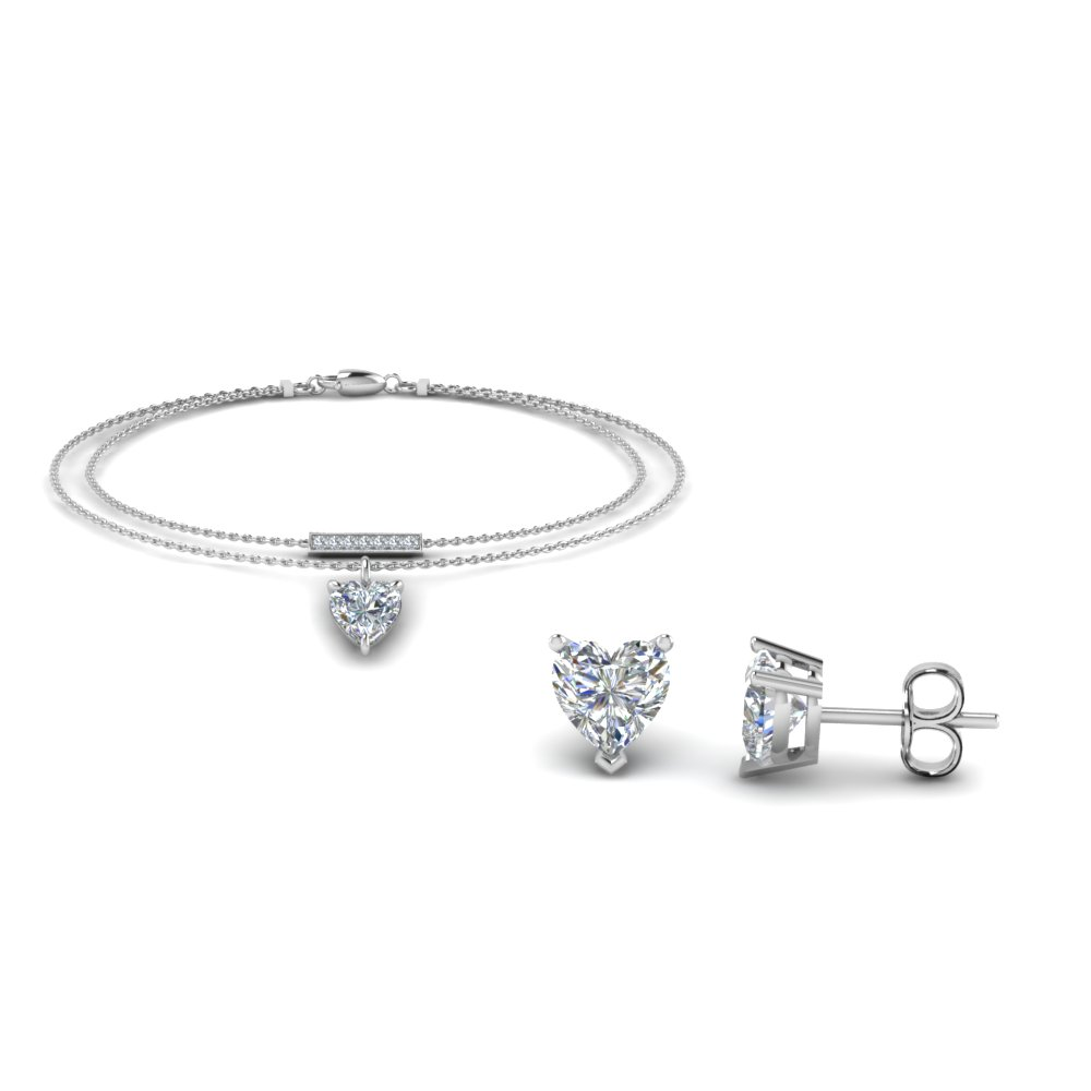 diamond earring and bracelet sale in FD8530 NL WG