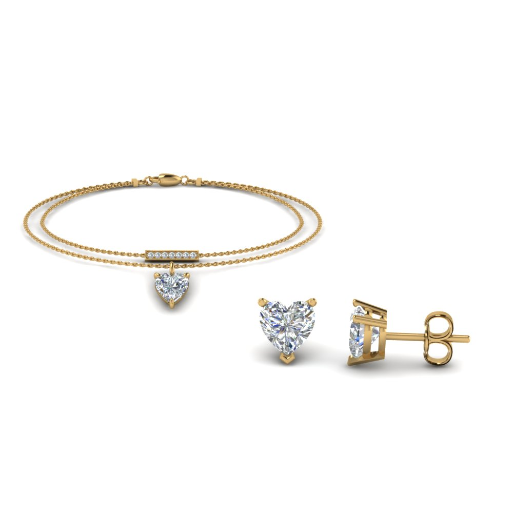 Diamond Earring And Bracelet Sale
