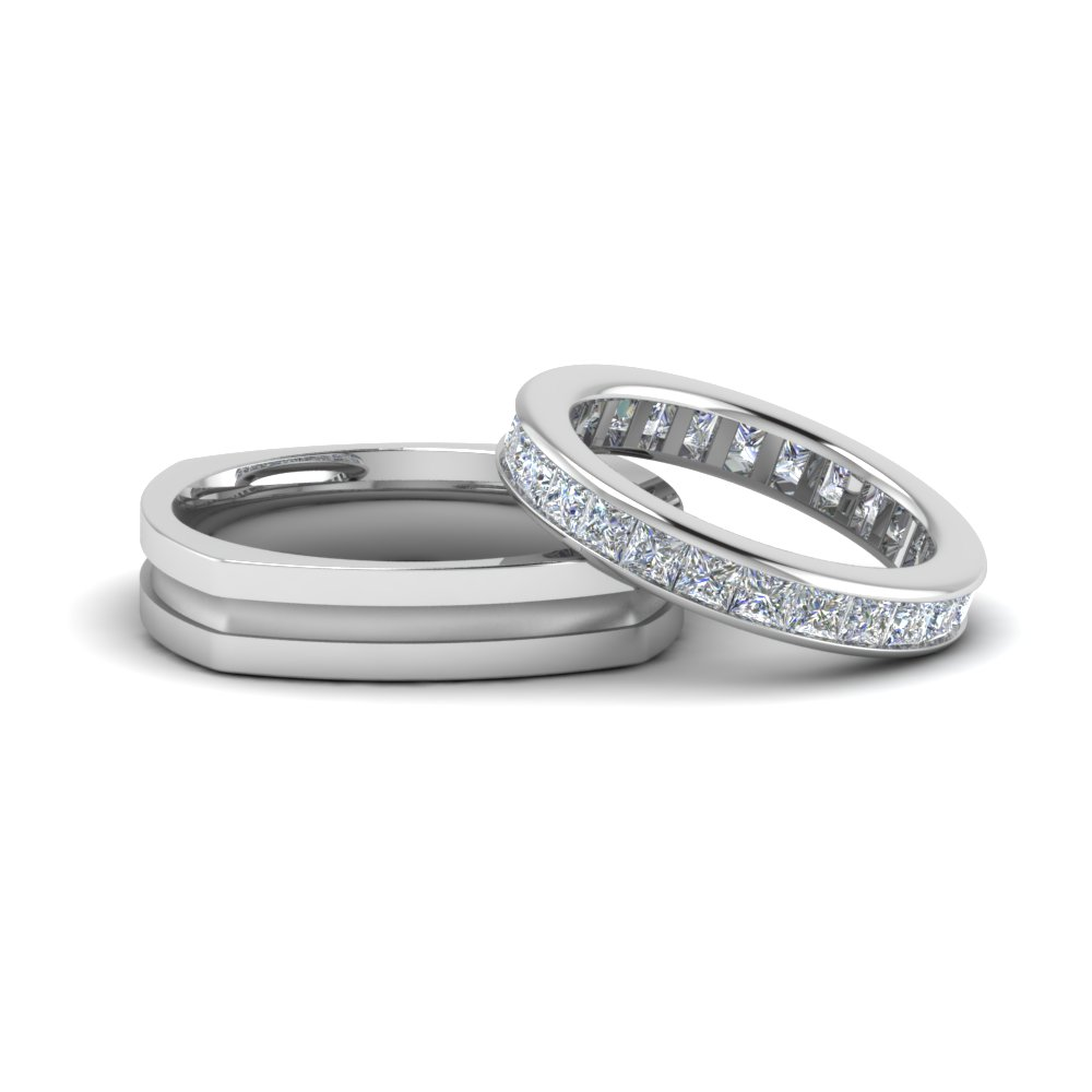 Eternity Ring & Band For Couple