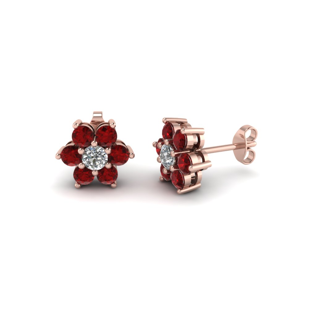 Ruby Stud Women Earring