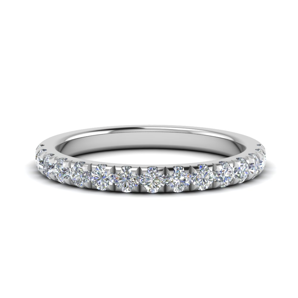 0.50 ct. diamond-french-pave-half-eternity-band-in-FD123883RO(2.00MM)-NL-WG