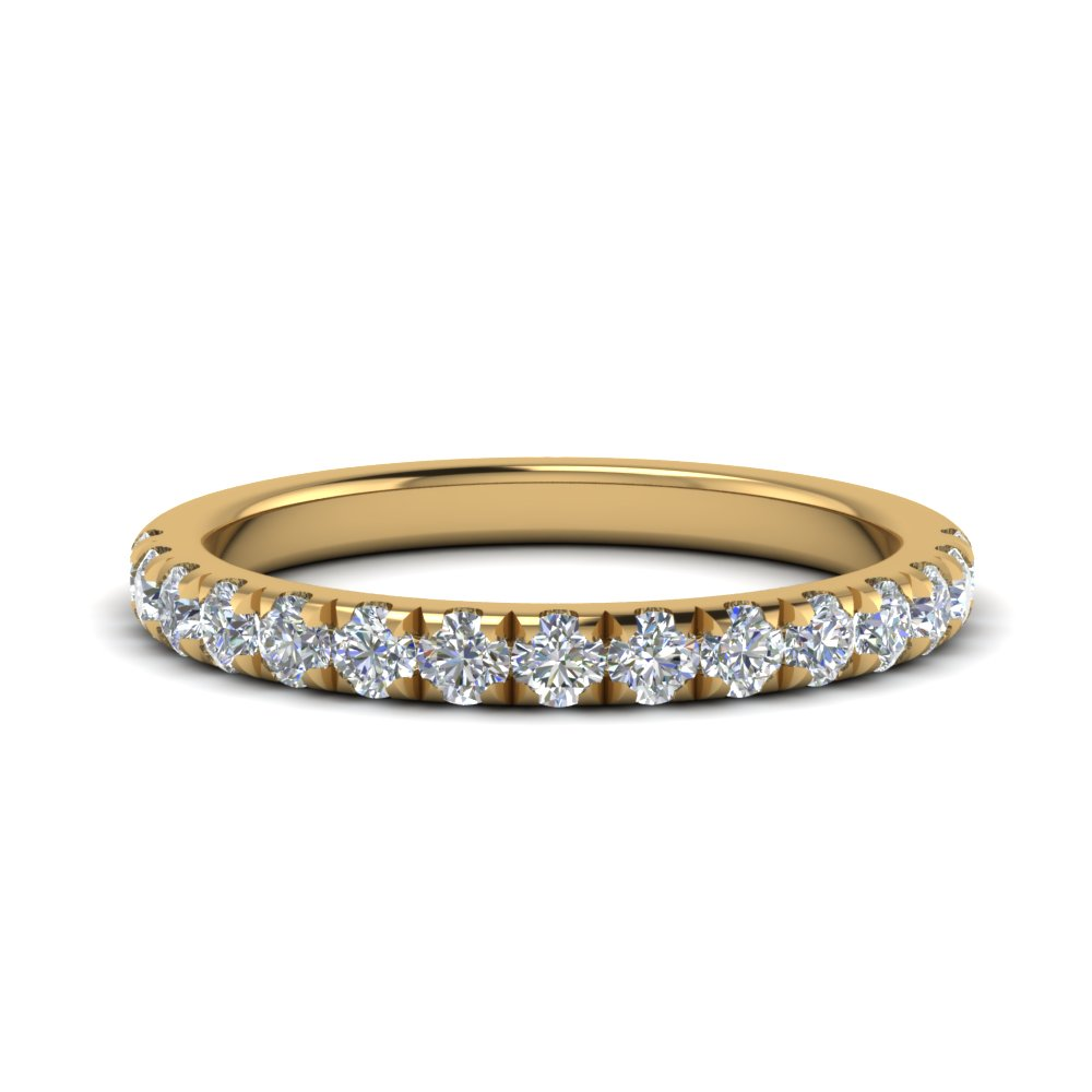 French Pave Half Eternity Band