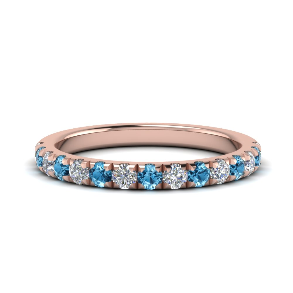 0.50 ct. diamond-french-pave-half-eternity-band-with-blue-topaz-in-FD123883RO(2.00MM)GICBLTO-NL-RG