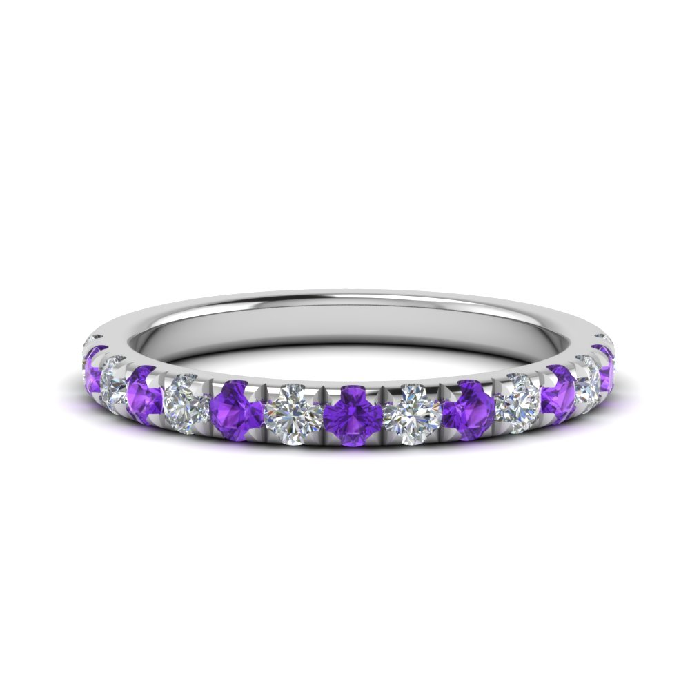 0.50 ct. diamond-french-pave-half-eternity-band-with-purple-topaz-in-FD123883RO(2.00MM)GVITO-NL-WG