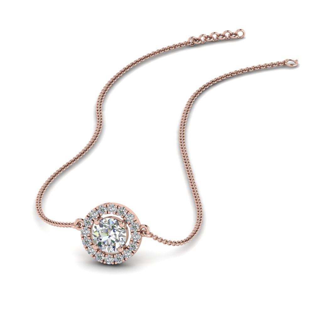 0.50 ct. diamond halo pendant necklace in FDPD8963 NL RG