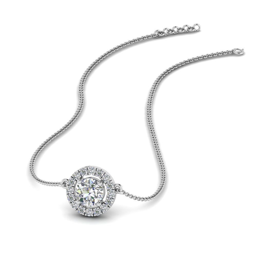 0.50 ct. diamond halo pendant necklace in FDPD8963 NL WG