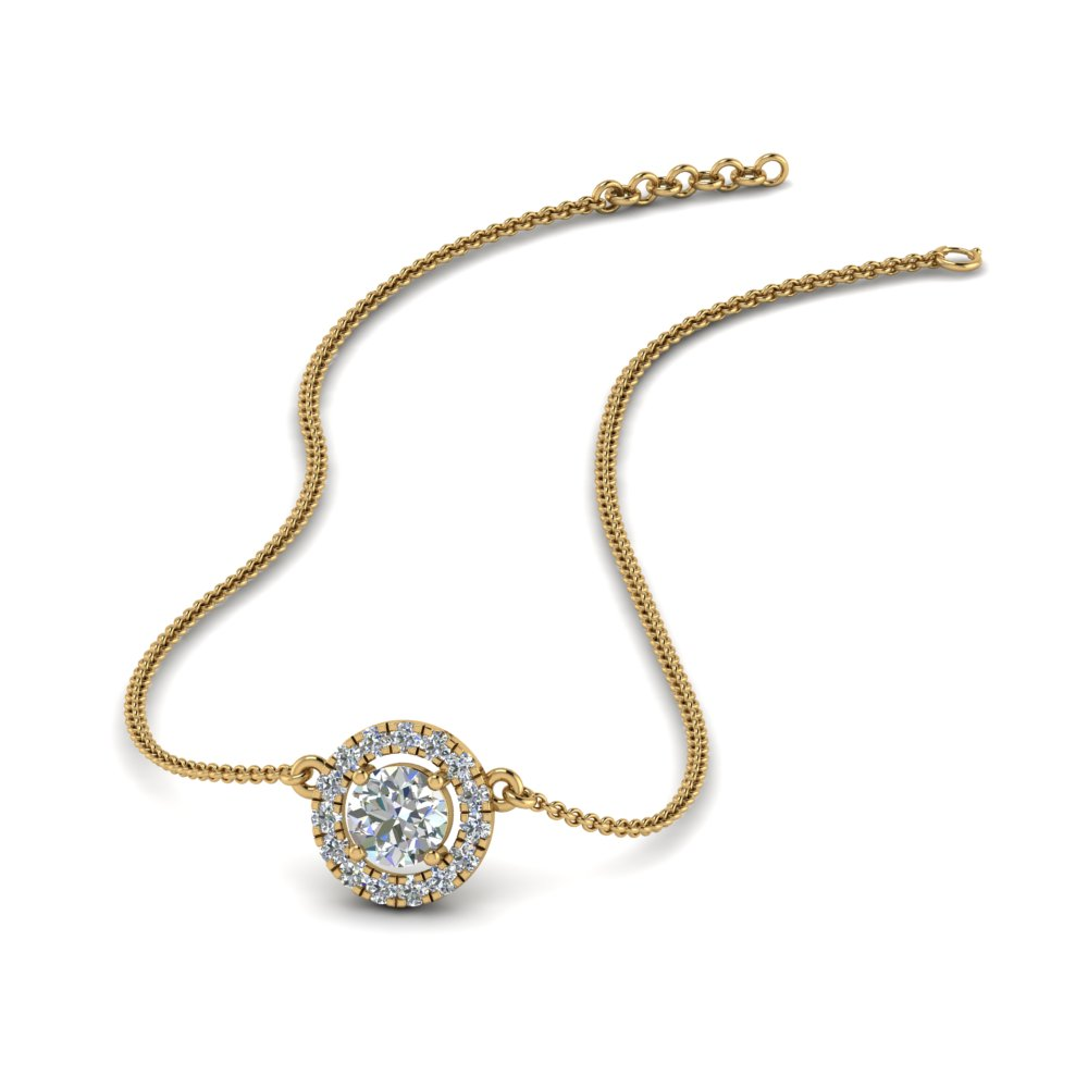 0.30 Ct. Diamond Halo Pendant Necklace