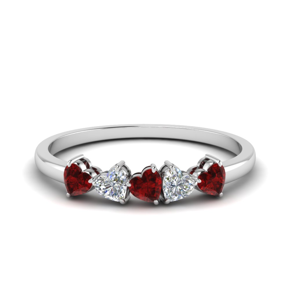 Ruby Heart Anniversary Ring