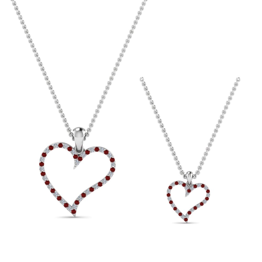 diamond-heart-necklace-for-mom-daughter-with-ruby-in-FDPD9066MD-K-GRUDRANGLE2-NL-WG