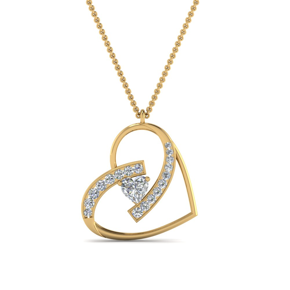 Diamond Heart Necklace Pendant