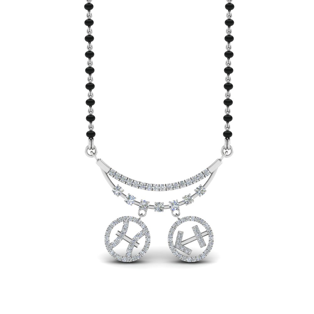 Beads Diamond Mangalsutra With Sun Signs