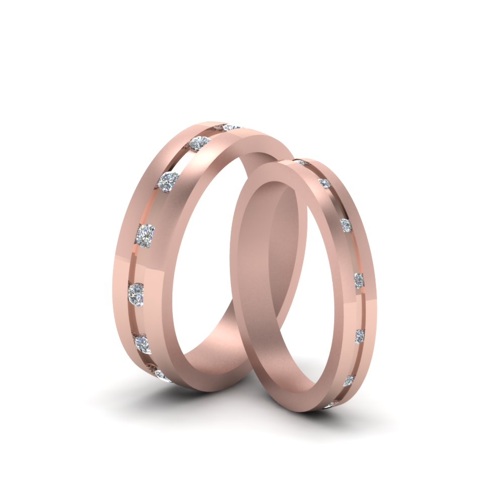 Diamond Matching Set For Him And Her In 18K Rose Gold | Fascinating ...