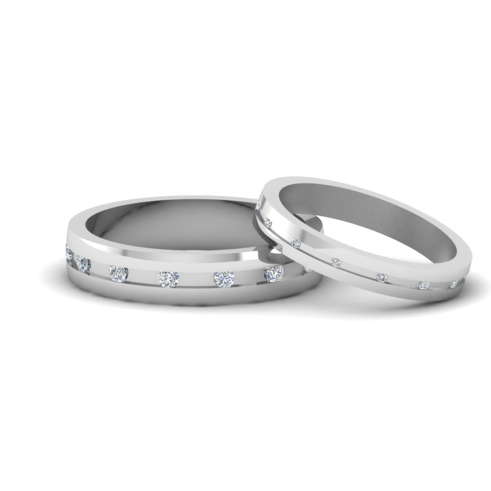 Unique Matching Ring Sets Diamond Set For Him And Her: Simple Unique Wedding Bands For Women At Websimilar.org