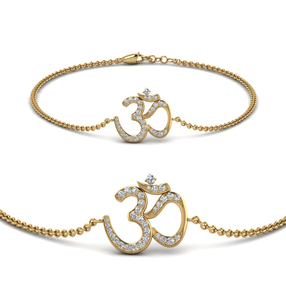 Diamond OM Design Bracelet