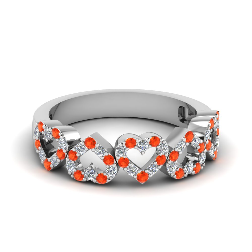 diamond open heart anniversary band with poppy topaz in FD1145BGPOTO NL WG