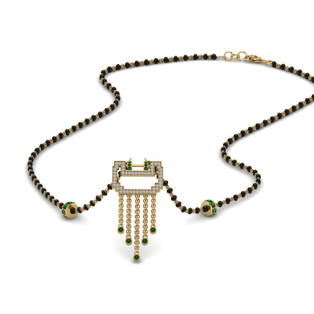Pendant Mangalsutra With Emerald