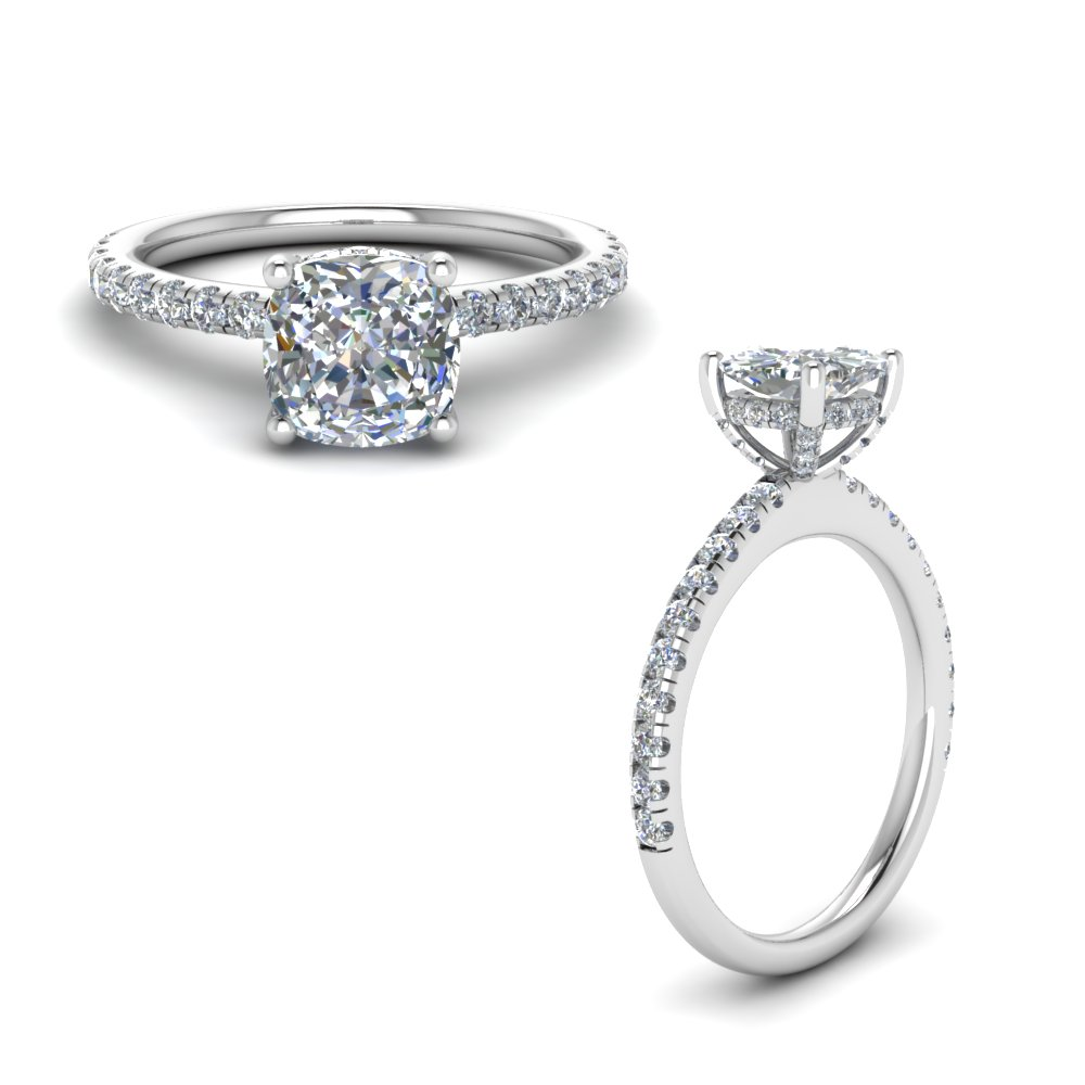 Cushion Cut Petite High Set Ring