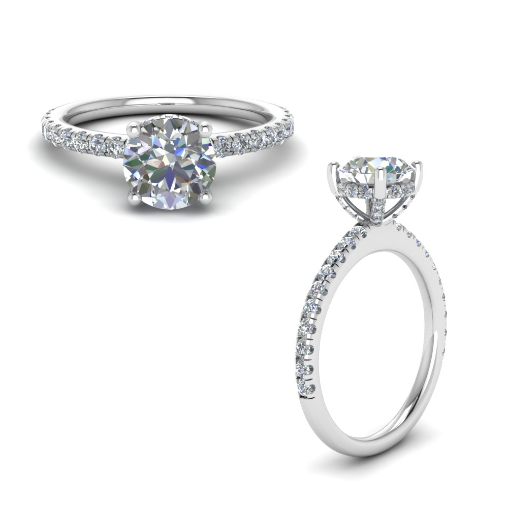 high set under halo diamond engagement ring in FD8523RORANGLE1 NL WG GS