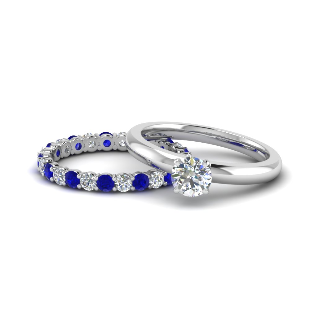 Sapphire Eternity Wedding Set
