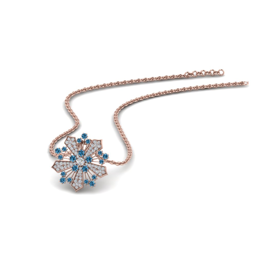 Fancy Snowflake Pendant Necklace