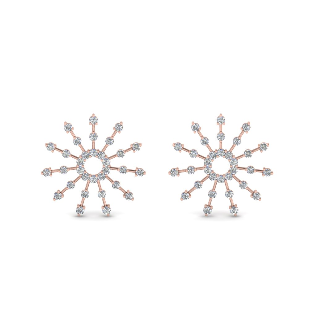 Sunburst Diamond Stud Earring