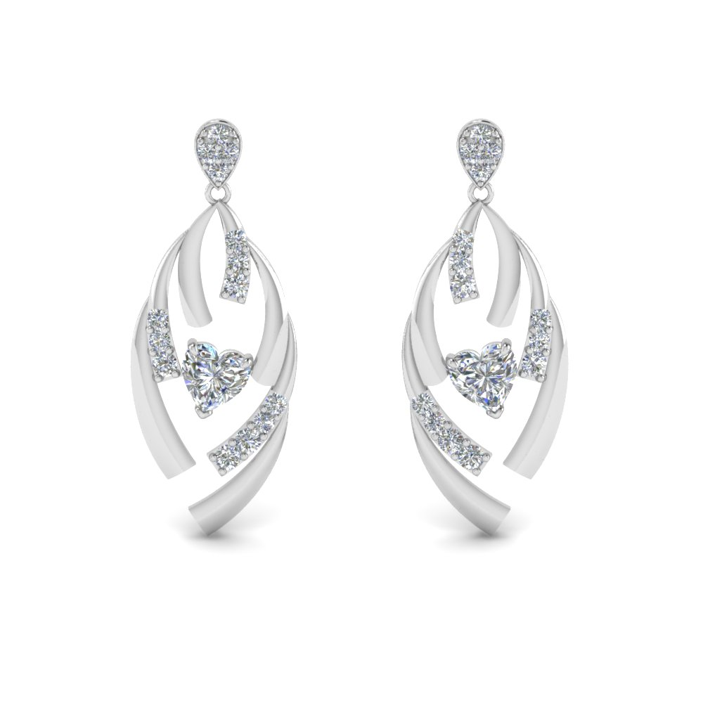 Sterling Silver Stud Drop Earrings for Women