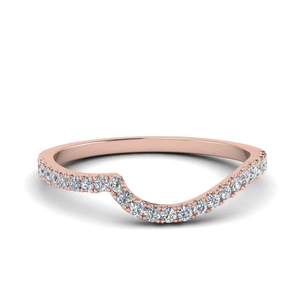 diamond swirl band in 14K rose gold FDOV50895B NL RG