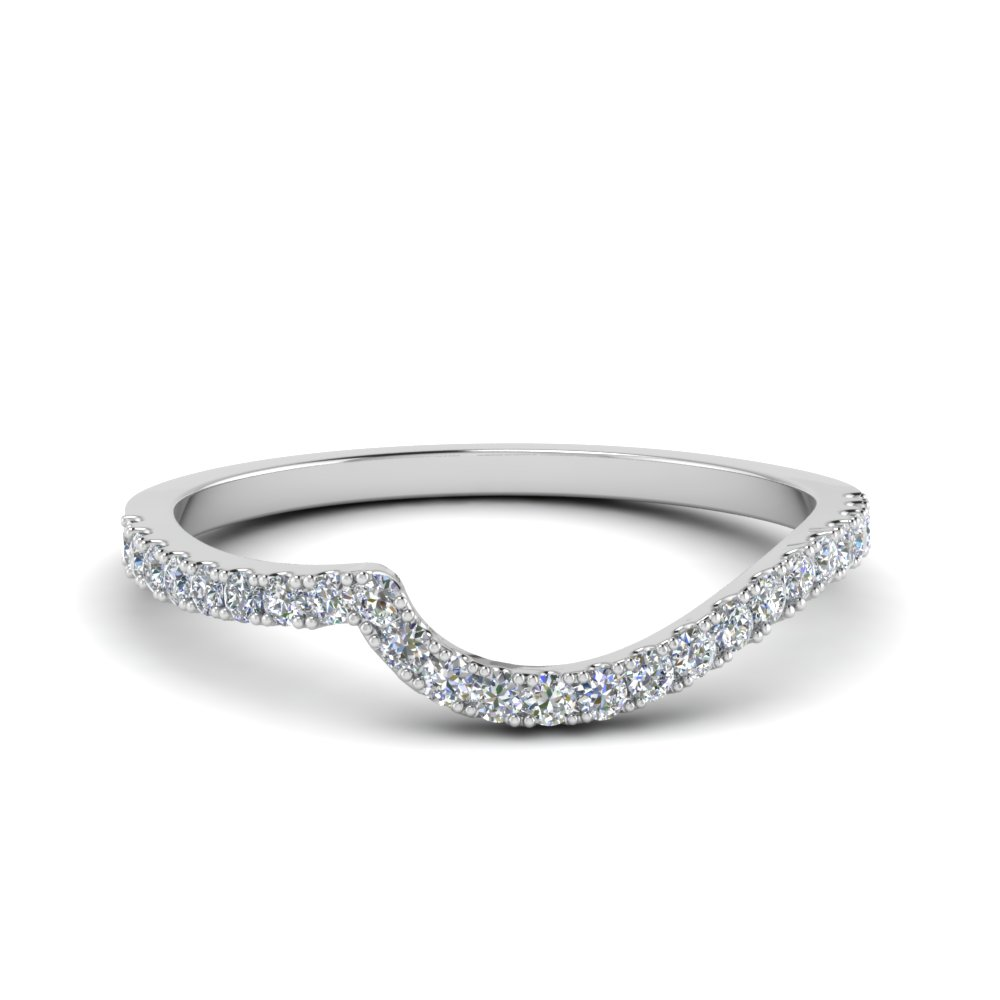 Diamond Swirl Wedding Band