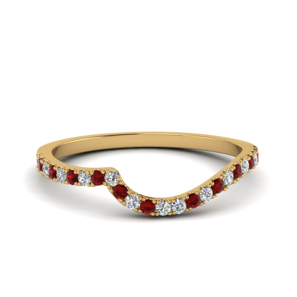 Ruby Diamond Swirl Band