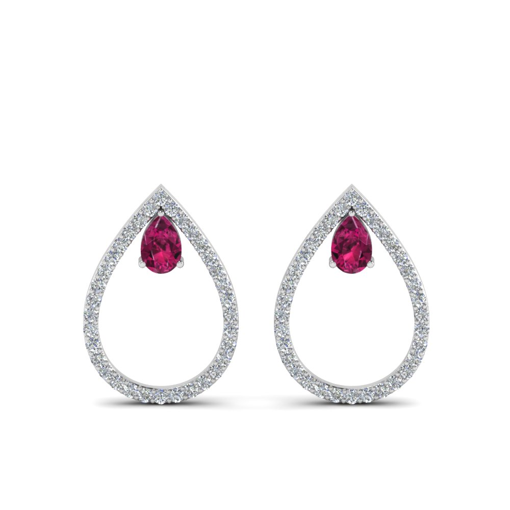 White Gold Diamond  Stud Earring for Women