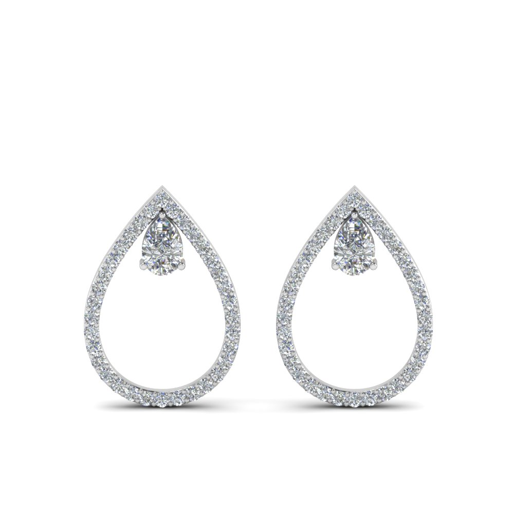 Platinum Diamond Teardrop Earring