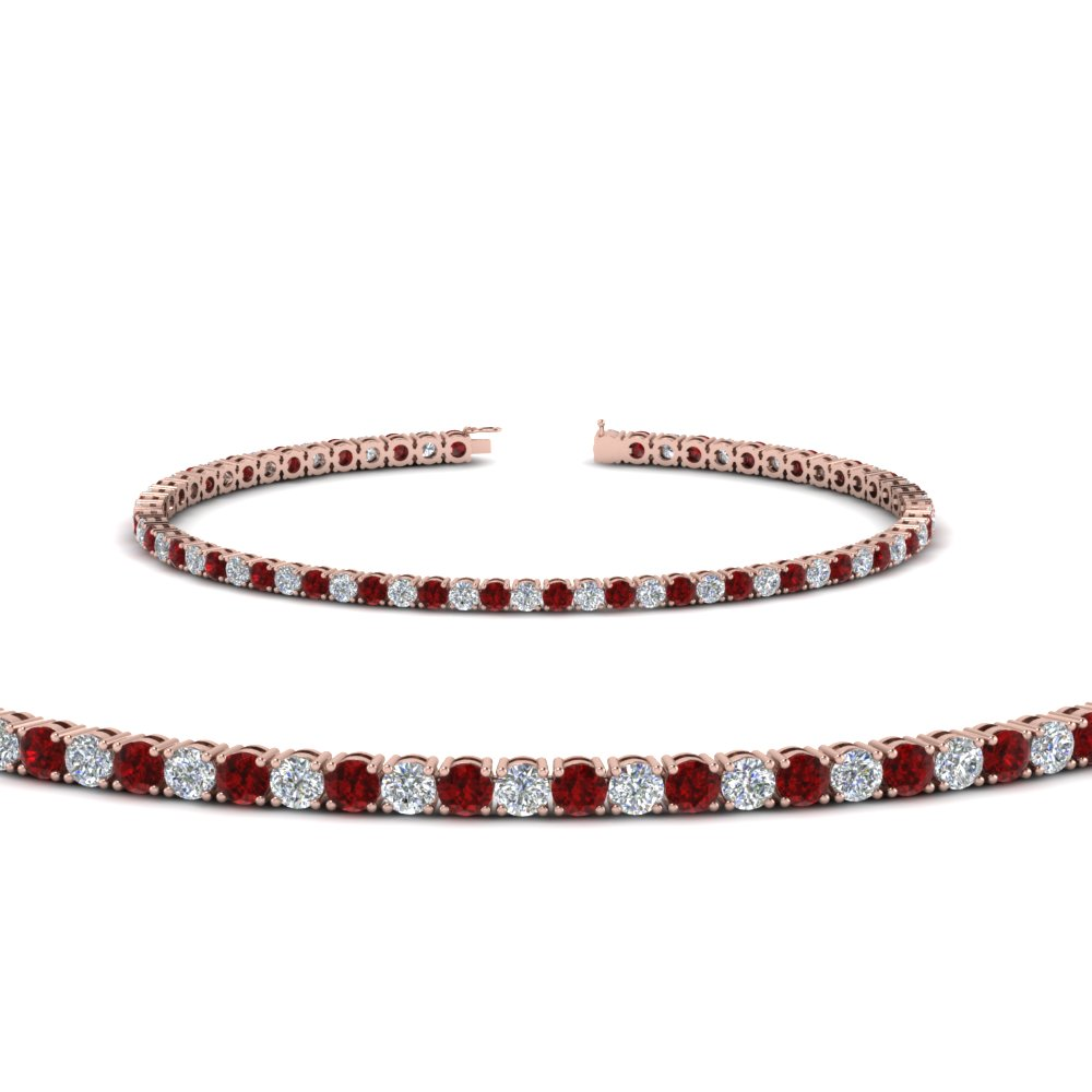 6943169e53d diamond tennis bracelet for women with ruby (3 ctw.) in FDBRC8636 3CTGRUDR  NL