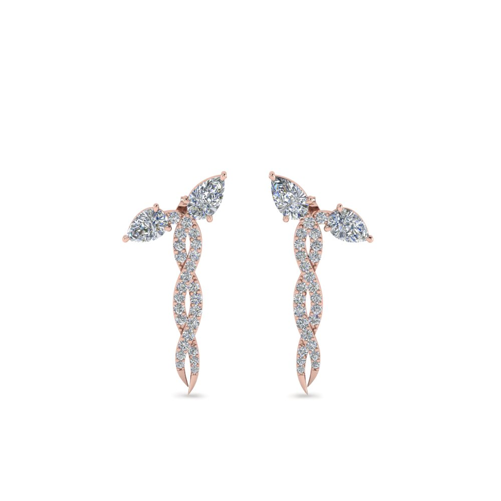 Twisted Snake Diamond Earring
