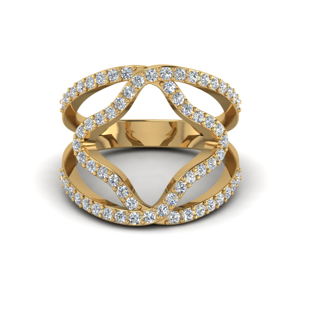 18k Yellow Gold Women Diamond Wedding Ring