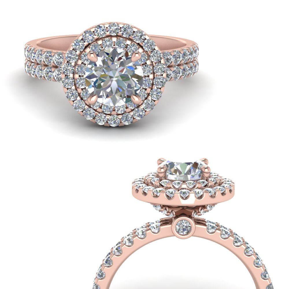 double band round halo diamond engagement ring in FD9141RORANGLE3 NL RG.jpg